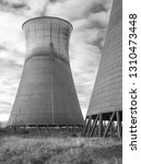 obsolete  cooling tower... | Shutterstock . vector #1310473448
