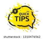 quick tips  helpful tricks ... | Shutterstock .eps vector #1310476562