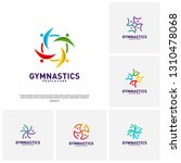 set of people healthy logo... | Shutterstock .eps vector #1310478068