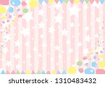 hand drawn dot paint and star... | Shutterstock .eps vector #1310483432