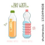 zero waste concept poster.... | Shutterstock .eps vector #1310494838
