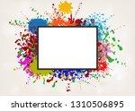 vector frame on splash color... | Shutterstock .eps vector #1310506895