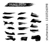vector set of grunge brush... | Shutterstock .eps vector #1310526098