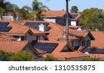 Solar Panels On Rooftops In...
