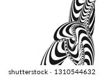 tangle lines black and white...   Shutterstock .eps vector #1310544632