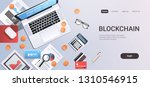 crypto currency block chain... | Shutterstock .eps vector #1310546915