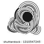tangle lines black and white... | Shutterstock .eps vector #1310547245