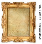 old golden frame with empty... | Shutterstock . vector #131054786