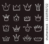 hand drawn set of different... | Shutterstock .eps vector #1310550722