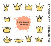 hand drawn set of different... | Shutterstock .eps vector #1310550725