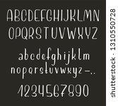 hand drawn font made by ink... | Shutterstock .eps vector #1310550728