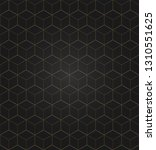 vector 3d gold geometric square ... | Shutterstock .eps vector #1310551625