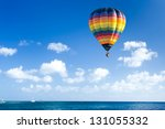 colorful hot air balloon fly... | Shutterstock . vector #131055332
