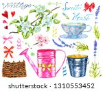 design set with watering can ... | Shutterstock . vector #1310553452