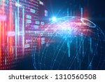 earth futuristic technology... | Shutterstock . vector #1310560508