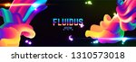 fluid colorful gradient... | Shutterstock .eps vector #1310573018
