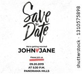 ink save the date lettering...   Shutterstock .eps vector #1310575898