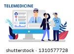 telemedicine concept in flat...   Shutterstock .eps vector #1310577728