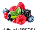 mix berries with leaf. various... | Shutterstock . vector #1310578805