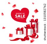 decorative gift boxes with red... | Shutterstock .eps vector #1310582762