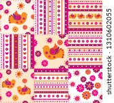 patchwork colorful background...   Shutterstock .eps vector #1310602055