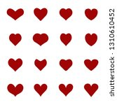 heart icons set. valentine's day | Shutterstock .eps vector #1310610452