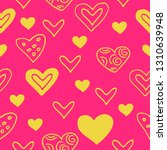 seamless pattern with hearts.... | Shutterstock .eps vector #1310639948
