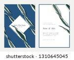 botanical wedding invitation...   Shutterstock .eps vector #1310645045