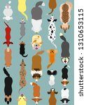dogs seamless pattern background   Shutterstock .eps vector #1310653115