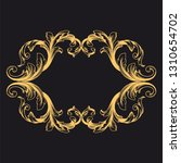 gold ornament baroque style.... | Shutterstock .eps vector #1310654702