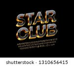 vector black and golden... | Shutterstock .eps vector #1310656415