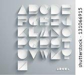 vector paper graphic alphabet... | Shutterstock .eps vector #131066915