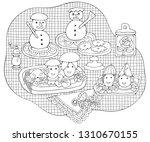 home cooking still life vector... | Shutterstock .eps vector #1310670155