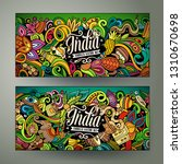 india hand drawn doodle banners ... | Shutterstock .eps vector #1310670698