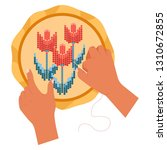 handmade embroidery threads and ...   Shutterstock .eps vector #1310672855