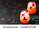 festive pink cold alcoholic... | Shutterstock . vector #1310674238
