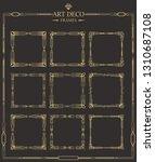 set of art deco gold... | Shutterstock .eps vector #1310687108