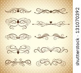 set of ornamental design...   Shutterstock .eps vector #131070392