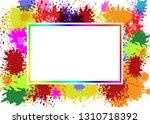 vector frame on splash color... | Shutterstock .eps vector #1310718392