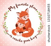 happy mothers day greeting card ... | Shutterstock .eps vector #1310718455