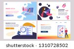 online marketing set of vector...