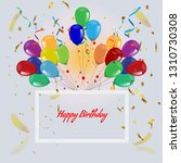luxury party balloons and... | Shutterstock .eps vector #1310730308