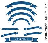 set of blue ribbon baner icon...   Shutterstock .eps vector #1310740415
