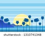 summer sunny tropical... | Shutterstock .eps vector #1310741348
