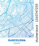 vector city map of barcelona... | Shutterstock .eps vector #1310747255