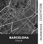 vector city map of barcelona... | Shutterstock .eps vector #1310747258