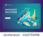 investment solutions bank... | Shutterstock .eps vector #1310753498