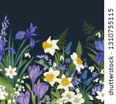 floral seamless border. meadow... | Shutterstock .eps vector #1310755115