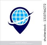 map and globe logo   Shutterstock .eps vector #1310766272