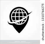 map and globe logo   Shutterstock .eps vector #1310766275